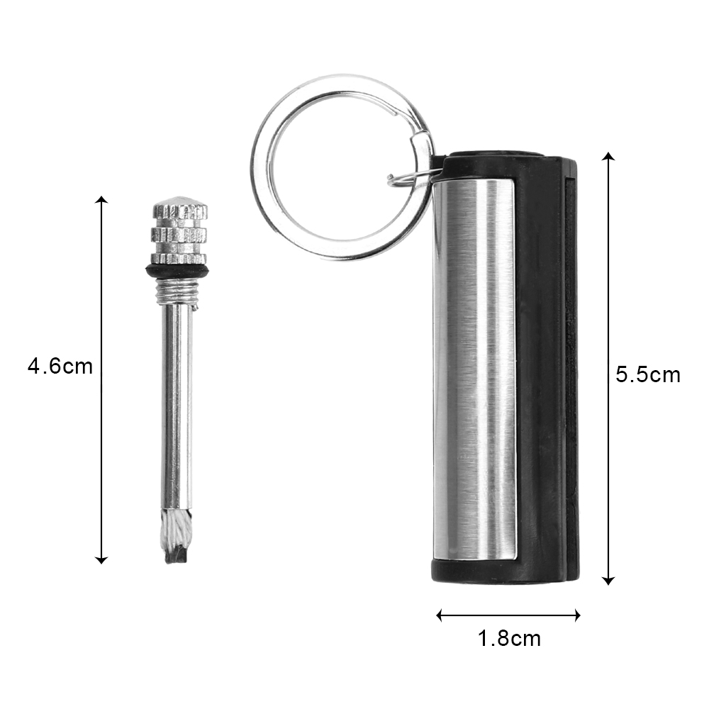 Key Chain Striker Lighter Permanent Cylindrical Match Stainless Steel Key Ring Auto Interior Accessories