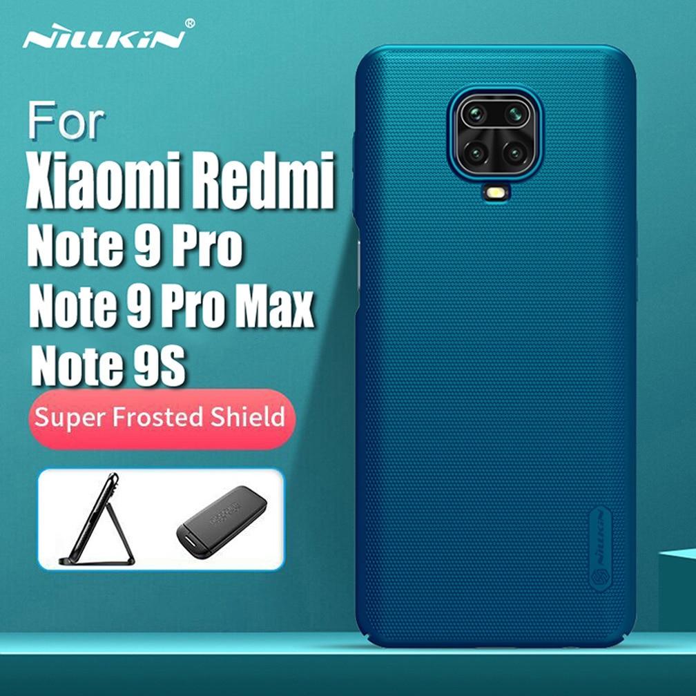 Para Xiaomi Redmi nota 9 / 9 Pro caso estuche protector Super esmerilado Nillkin de la PC dura de la cubierta del teléfono para Xiaomi Redmi Nota 9 Pro Max / 9S