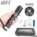 Мощный светодиодный фонарик с XHP 70 2  лампа с шариком  масштабируемый  3 режима освещения  светодиодный фонарь  поддержка зарядки Mircro  Охотнич...
