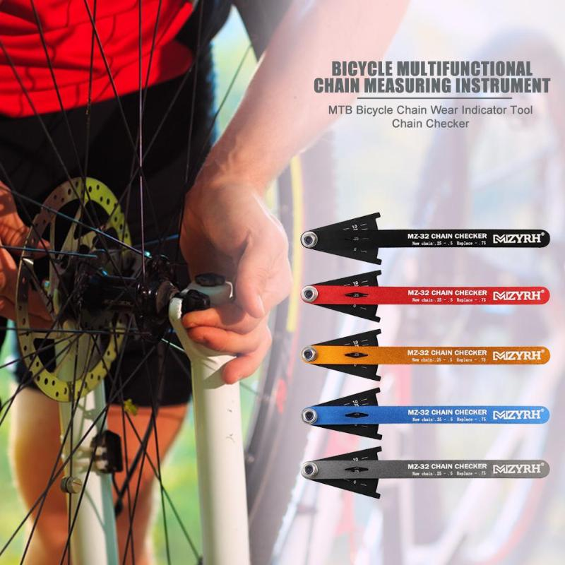 Bicycle Chain Wear Indicator Tool Delicate Cycling Chains Gauge Bike Measuring Instrument Checker Bicycle Repair Tools Parts