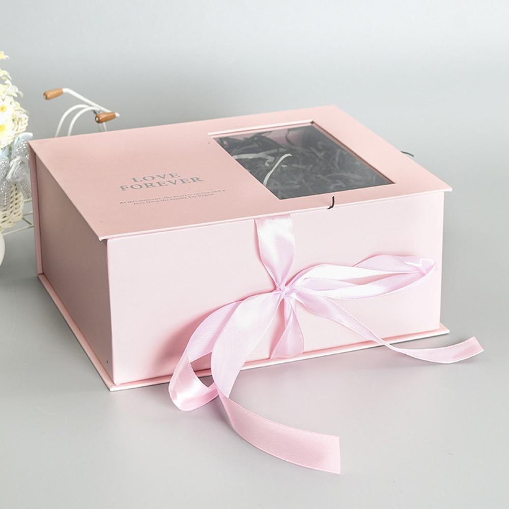 165*120 мм новые круглые бумажные коробки для цветов с крышкой, ведерко для цветов, подарочная упаковочная коробка, подарочные коробки для конфет, вечерние, Свадебные Поставки - Цвет: D(pink)