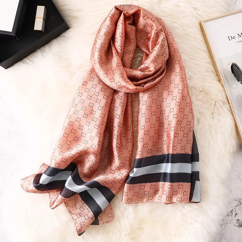 2020 Luxury Brand Women Scarf Summer Silk Scarves Shawls Lady Wraps Soft Pashimina Female Echarpe Designer Beach Stole Bandana