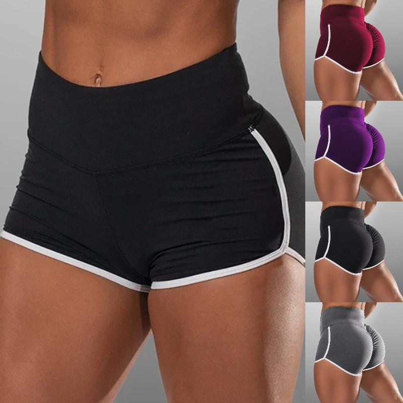 New Summer Sport Shorts Women High Waist Elasticated Seamless Fitness Leggings Push Up Gym Training Gym Tights Pocket Short 2