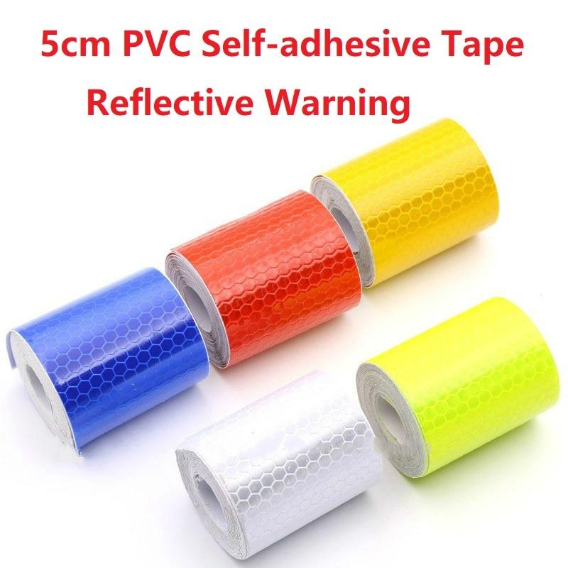 5CM*3M Reflective Film Warning Strip Reflective Tape Safety Mark For Car Van Traffic Sign PVC Crystal Lattice Reflective Sticker