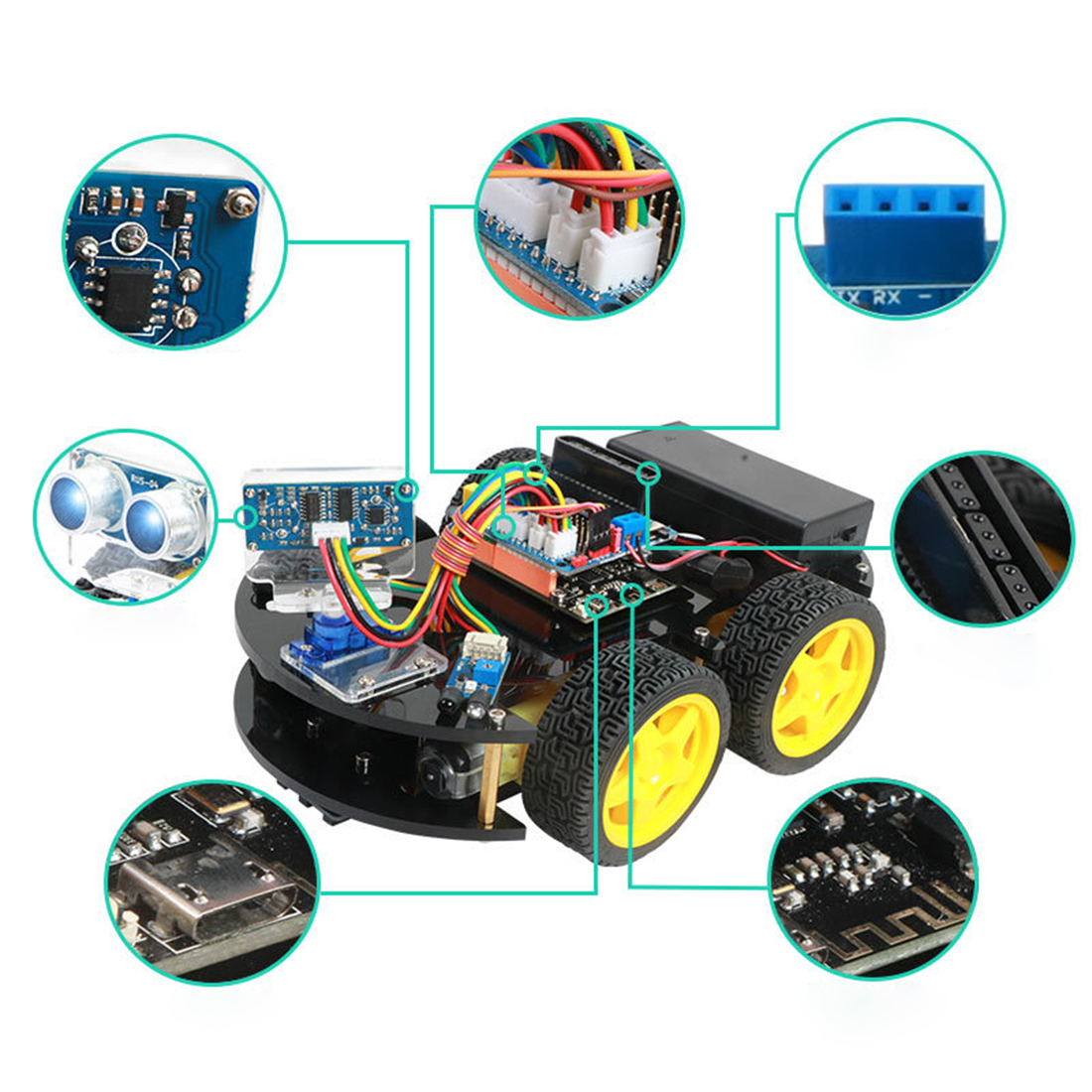 DIY Obstacle Avoidance Smart Programmable Robot Car Educational Learning Kit For Arduino Kits