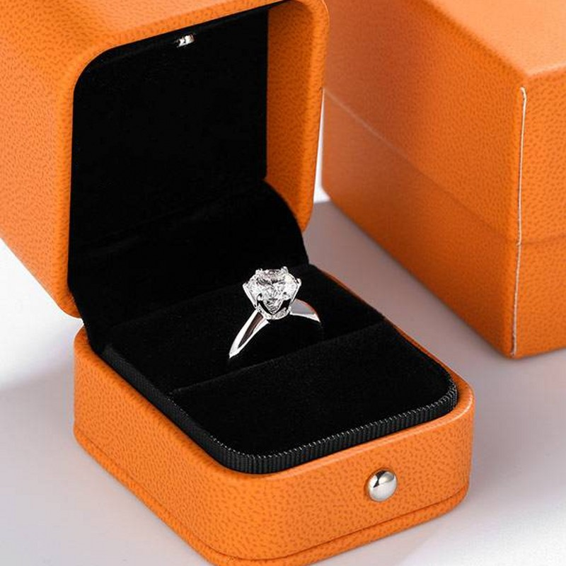 Solitaire Ring Real 925 Sterling Silver 1ct AAAAA Sona Cz Engagement Wedding Band Rings For Women Bridal Statement Party Jewelry