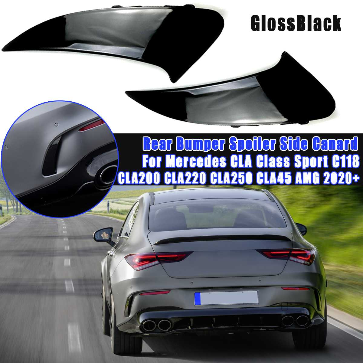 Right Hand Drive For CLA GLA A Class C117 W176 W177 X156 A180 2012-2019 ABS Car Cup Holder Cover Trim Carbon Fiber Style