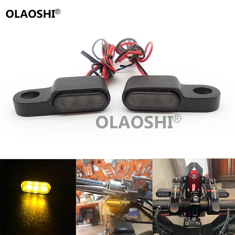 Pair Universal Motorcycle 15 LED Amber Turn Signal Indicator Light Lamp E-Mark