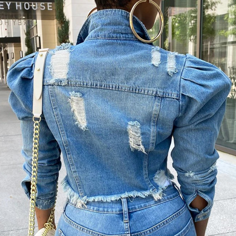 Sexy Ripped Denim Jackets for Women 4