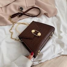 Fashion Quality Crocodile pattern Women Messenger Crossbody Bags Designer Ladies Handbags Shoulder purses Female clutch 2019
