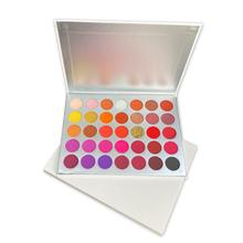 Eyeshadow-Palette Makeup Glitter Custom-Logo Wholesale New Red Paleta-De-Sombra Maquillage