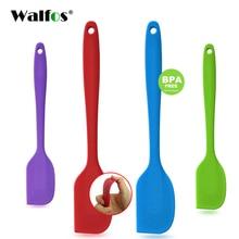 WALFOS пищевая антипригарная силиконовая лопатка для приготовления пищи, набор для печенья, кондитерских изделий, скребок, лопатка для выпечки, силиконовая лопатка