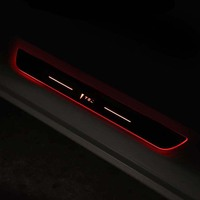 Interior Accessories for Tesla model 3 model3 led door threshold sill welcome lights pedal trim decorative frame sticker