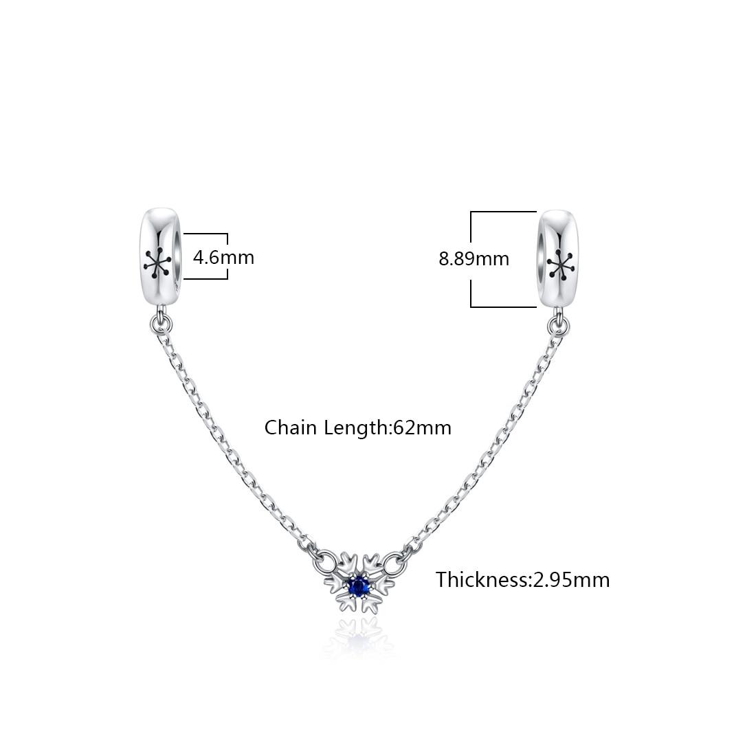 Nouveau 925 Sterling Silver Snowflake Zircon Charm Bead Jewelry Fit Chaîne Noël