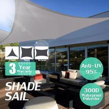 2020กันน้ำ300Dสแควร์สี่เหลี่ยมผืนผ้าShade Sail Garden Terrace Canopyว่ายน้ำSun Shade Camping Hiking Yard Sailกันสาด