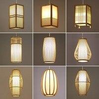 יפני במבוק נברשת אורות מסעדת חדר שינה המיטה תליית מנורת תה חדר סלון תליית חדש סיני זן מנורות