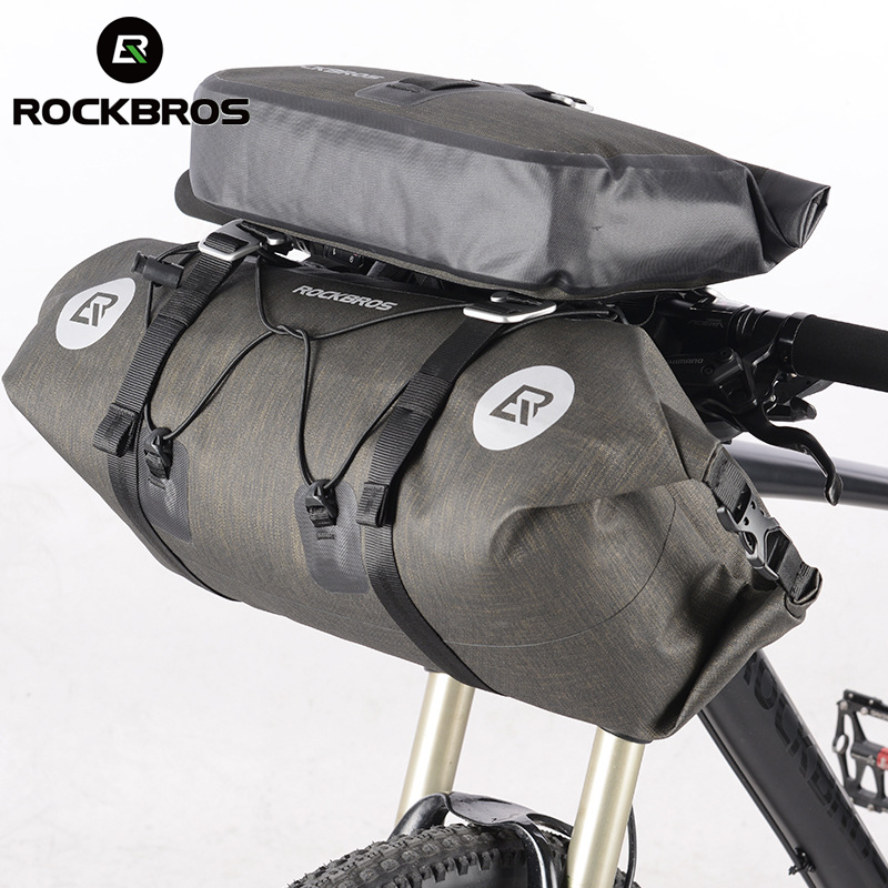 ROCKBROS Big Capacity MTB Cycling Handlebar Bags Waterproof Bicycle Front Tube Bags Front Frame Trunk Pannier Bike Accessories