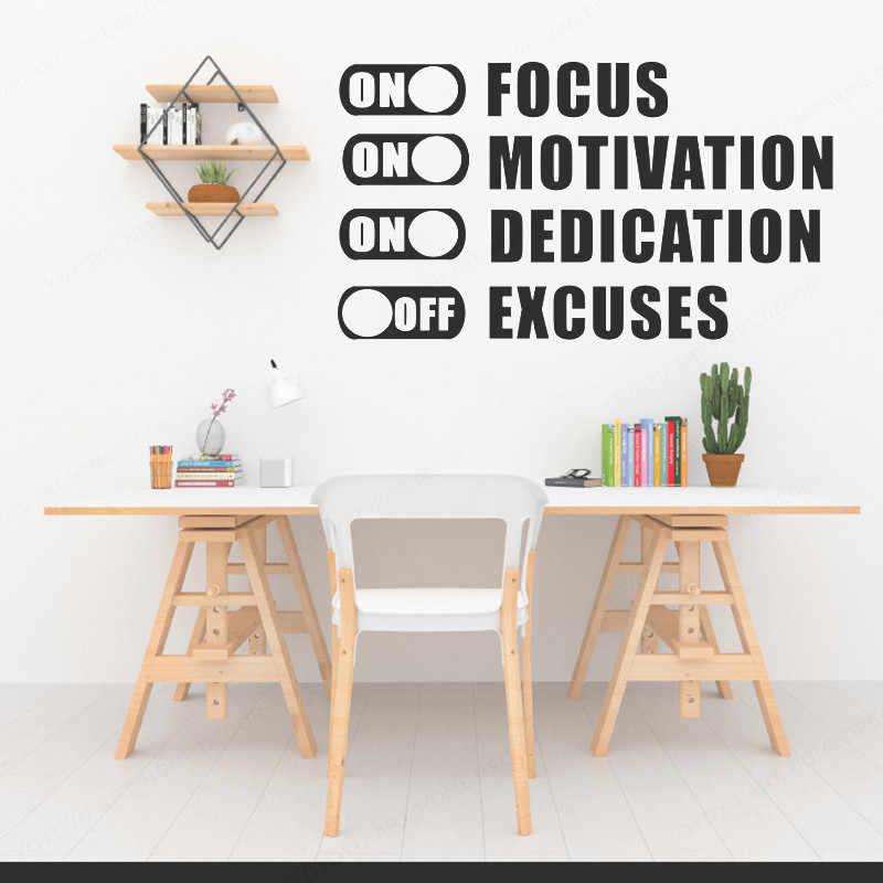 YOYOYU odak motivasyon çin'de apologies dışında spor motivasyon alıntı egzersiz Fitness vinil sanat duvar çıkartması ev dekor HL205