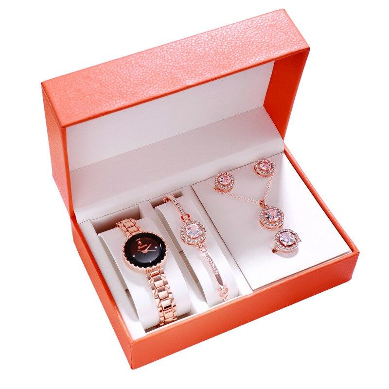 Waterproof Watch Women Wristwatch Fashion Casual Bracelet Luxury 2019 Quartz Ladies Crystal Diamond Wrist Watches Watchband Set