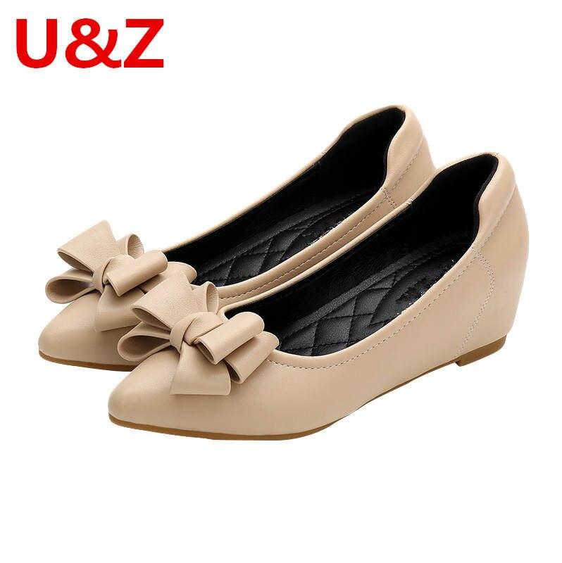 16 пар Милые розово/Абрикосовый женские туфли из мягкой кожи высотой 4 см; Женские туфли-лодочки, женские офисные Маст-хэв на каблуке средней ...