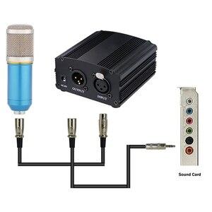Image 5 - 48V Dc Phantom Power Supplyของแท้ProfessionalสำหรับStudio Recording Condenserไมโครโฟนคอมพิวเตอร์Eu Plug