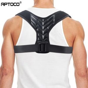 Aptoco Brace Support Belt Adjustable Back Posture Corrector Clavicle Spine Back Shoulder Lumbar Posture Correction Dropshipping(China)