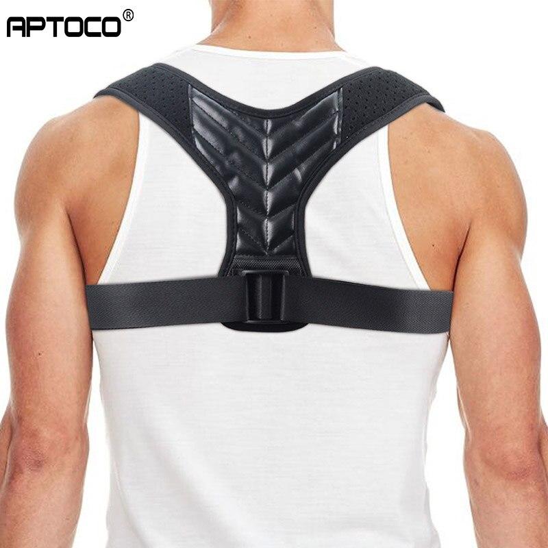 Aptoco Brace Support Belt Adjustable Back Posture Corrector Clavicle Spine Back Shoulder Lumbar Posture Correction Dropshipping