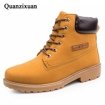 Buty zimowe męskie buty ciepłe męskie buty kamuflaż buty wojskowe buty męskie dorosłe buty śniegowe męskie buty zimowe obuwie męskie 39 S tanie i dobre opinie Quanzixuan Buty śniegu CN (pochodzenie) ANKLE Stałe Pluszowe Plush Okrągły nosek RUBBER Zima Niska (1 cm-3 cm) Winter Shoes Men Boot Men Winter Footwear