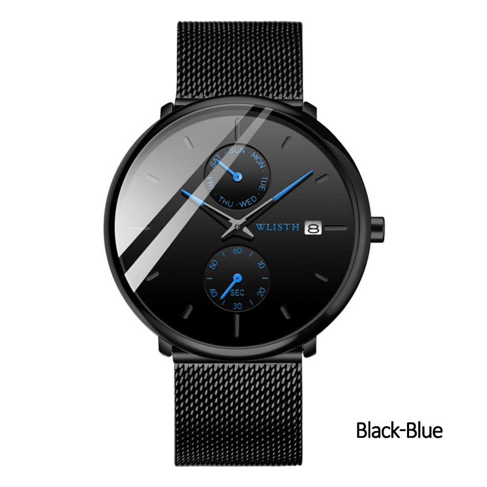 Luxury Brand Black Quartz Men Watch High Quality Wrist Watch Clocks Trending Products 2020 Cool Wathes for Men Day Date Watch