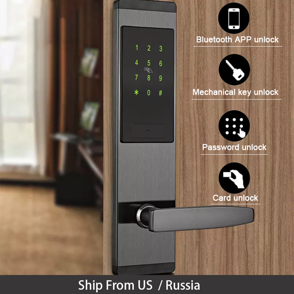 Security Electronic Door Lock Digital Smart Touch Screen Home Appliances