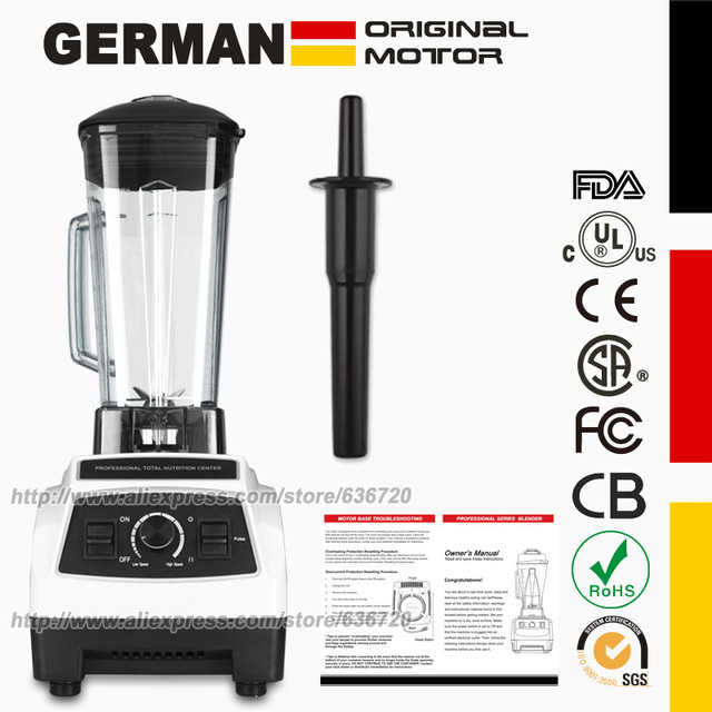 Eu/Us/Uk/Au Plug Duitse Originele Motor Professionele Blender, Smoothies Juicer, food Processor Met Bpa Gratis Blender Jar(64 Oz)