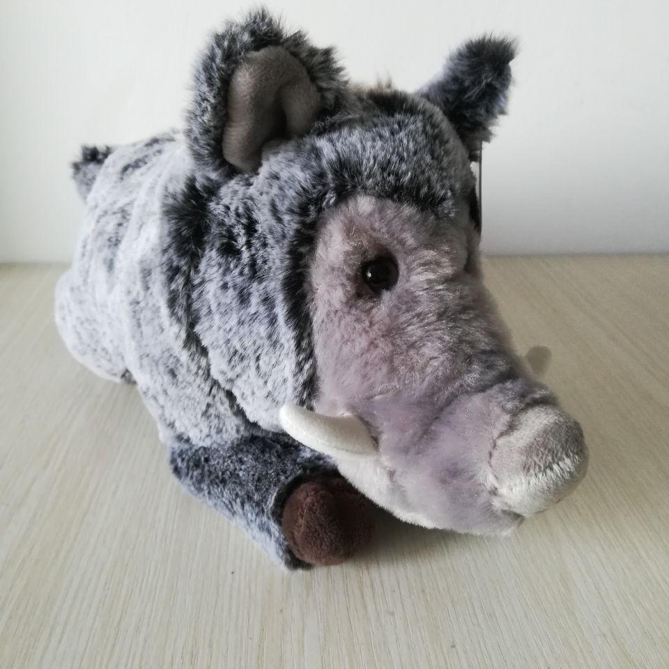 Lovely Lying Wild Boar Plush Toy About 30cm Soft Doll Toy Birthday Gift B1679