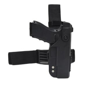 Image 1 - Glock 용 전술 총 홀스터 17 19 22 23 26 31 Airsoft 권총 드롭 다리 홀스터 전투 허벅지 총 가방 케이스 사냥 액세서리