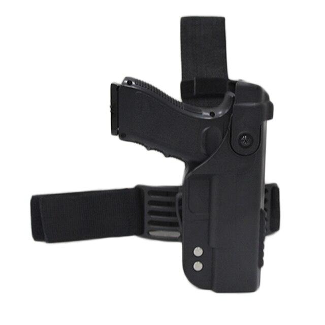 Glock 용 전술 총 홀스터 17 19 22 23 26 31 Airsoft 권총 드롭 다리 홀스터 전투 허벅지 총 가방 케이스 사냥 액세서리