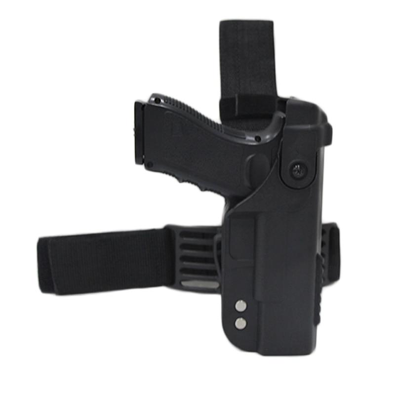 Tactical Gun Holster For Glock 17 19 22 23 26 31 Airsoft Pistol Drop Leg Holster combat Thigh gun Bag Case Hunting AccessoriesHolsters   -