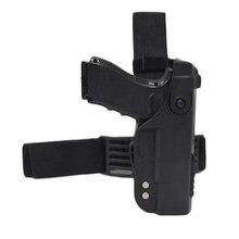 Coldre tático com perna para arma airsoft, coldre para arma airsoft glock 17 19 22 23 26 31 estojo de acessórios para caça