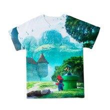 Summer New 3D Printing Men's T-shirt Cartoon Mario Anime T-shirt Men Cute Breathable O-neck Parent-child T-shirts Size 100-6XL
