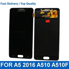 LCD For Samsung Galaxy A5 2016 A510F A510M A510 Mobile phone LCD Display Touch Screen Digitizer Assembly With brightness control 100% warranty mobile phone lcd with touch screen assembly for samsung galaxy s i9000 i9001 by free shipping