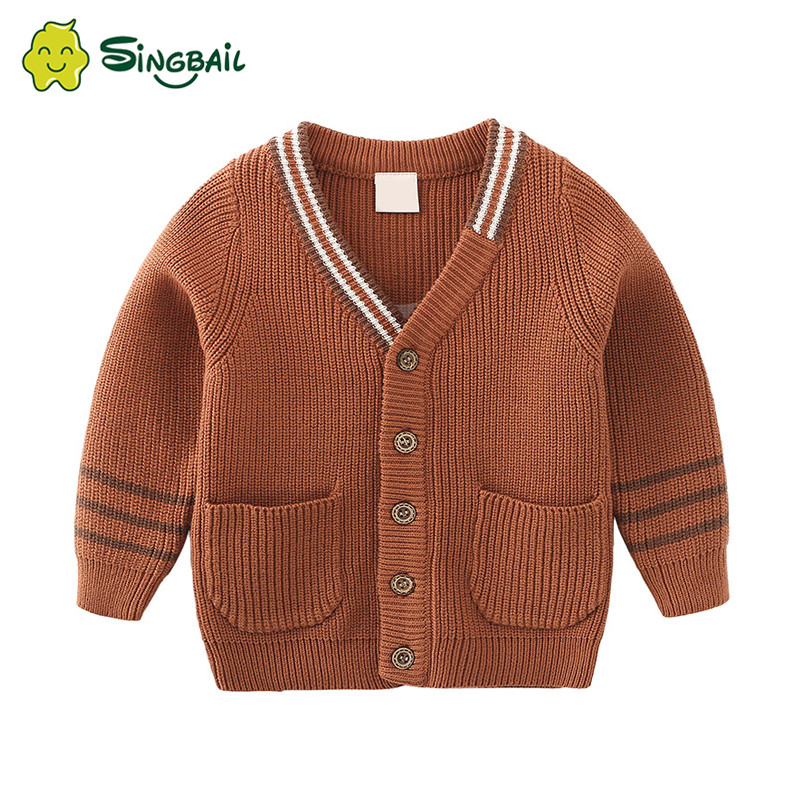 Kids Boys Sweaters Cardigan Fashion V,Neck Long Sleeve