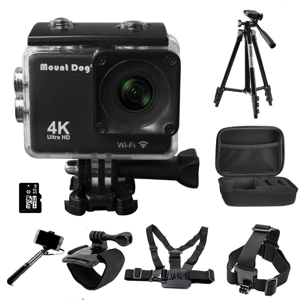2.0 Go Ultra Pro HD 4K Action Sports Video Camera DVR Recorder Wifi Remote Control Waterproof Selfie Stick Gopro Accessories