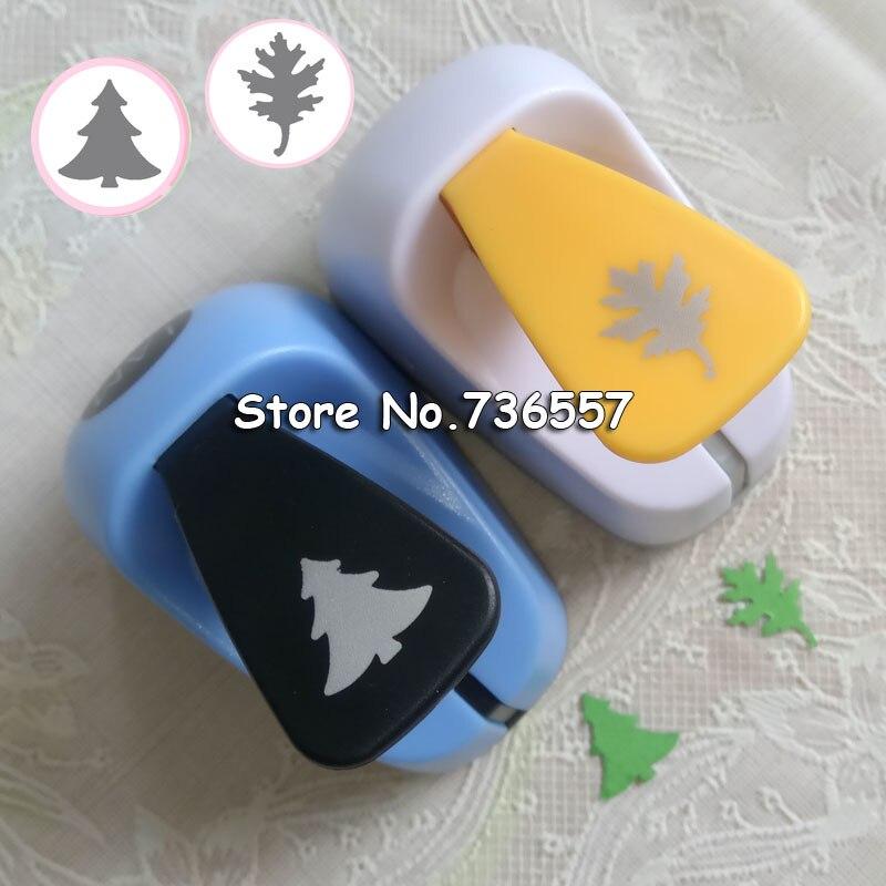 1pc Christmas Tree Cedar Oak Leaf Craft Punch Scrapbooking School DIY Gift Cedar Paper Cutter EVA Foam Trees Hole Punches