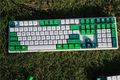 <font><b>87</b></font> 104 keys SA profile key cap for MX switches mechanical <font><b>keyboard</b></font> green forest theme keycap for Filco with free additional kit image