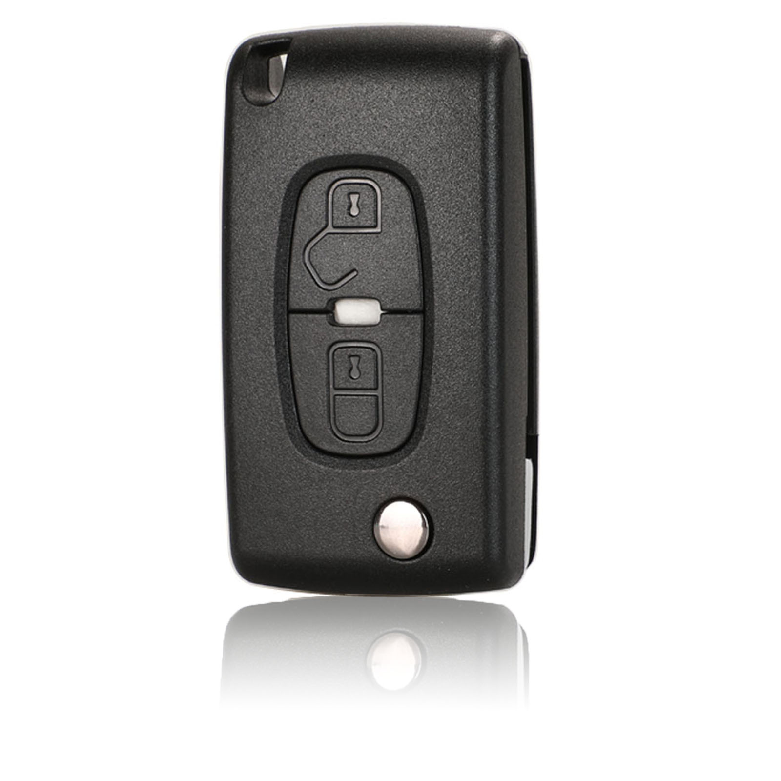 jingyuqin For <font><b>Peugeot</b></font> 4007 ET <font><b>4008</b></font> Citroen C-Crosser C4 Aircross 2 Button Flip Remote <font><b>Key</b></font> Case Shell Fob MIT-11R Blade CE1731 image