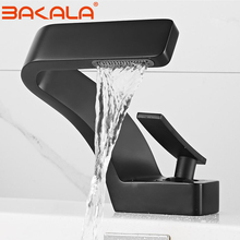 Mixer Faucet Sink-Tap Water-Tap Bathroom Black Single-Hole BAKALA Deck-Mounted Cold-Mitigeur