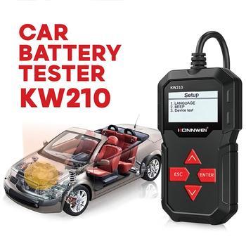 KONNWEI KW210 Car Battery Load Tester 12V 100-2000 CCA Professional Automotive Alternator Digital Analyzer Waveform Voltage Test lancol 12v car battery load tester with printer micro 568 digital automotive battery tester soc soh cca ir cca100 2000