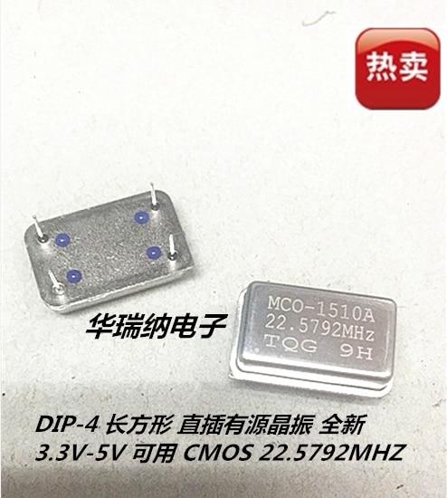 5pcs 100% New And Orginal Rectangular 22.5792M 22.579M 22.579MHZ DIP-4 Full Size Active DIP Crystal