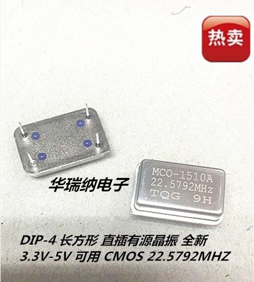 5pcs 100% New And Orginal Rectangular Active DIP Crystal DIP-4 MC0-1510A 24.576M 24.576MHZ OSC