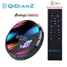 H96最大X3 4ギガバイト128ギガバイト8 18k amlogic S905X3スマートテレビボックスアンドロイド9.0デュアル無線lan 1080 1080p 4 18k youtubeセットトップボックスpk X96AIR X3 A95X H96MAX