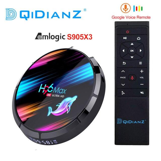 H96 מקס X3 4GB 128GB 8K Amlogic S905X3 חכם טלוויזיה תיבת אנדרואיד 9.0 כפולה Wifi 1080P 4K Youtube ממיר PK X96AIR X3 A95X H96MAX