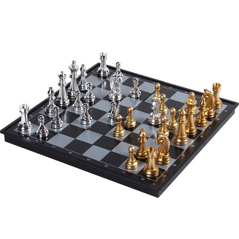 Jeu d'échecs magnétique spécial pour enfants, Mini étudiants, débutants, drapeaux, adultes, grandes pièces de jeu d'échiquier portables